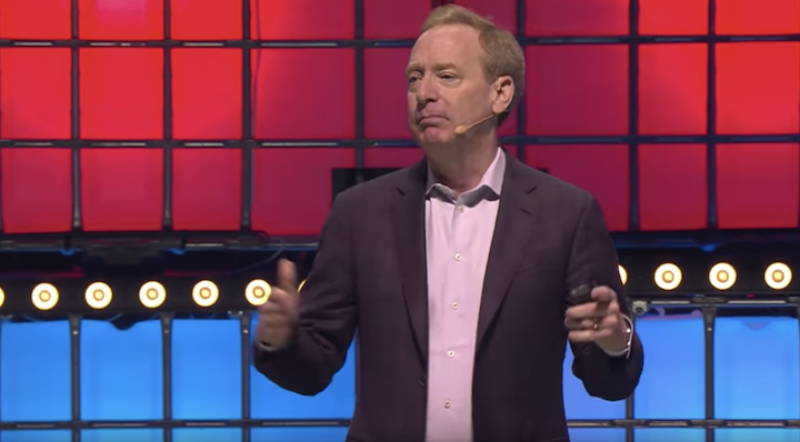 Brad Smith from Microsoft Addresses WebSummit 2019