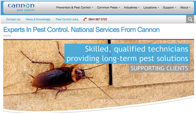 Cannon-Pest-Control-website
