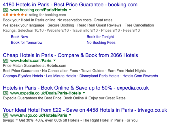 4 Adwords Ads At The Top Of Results Page