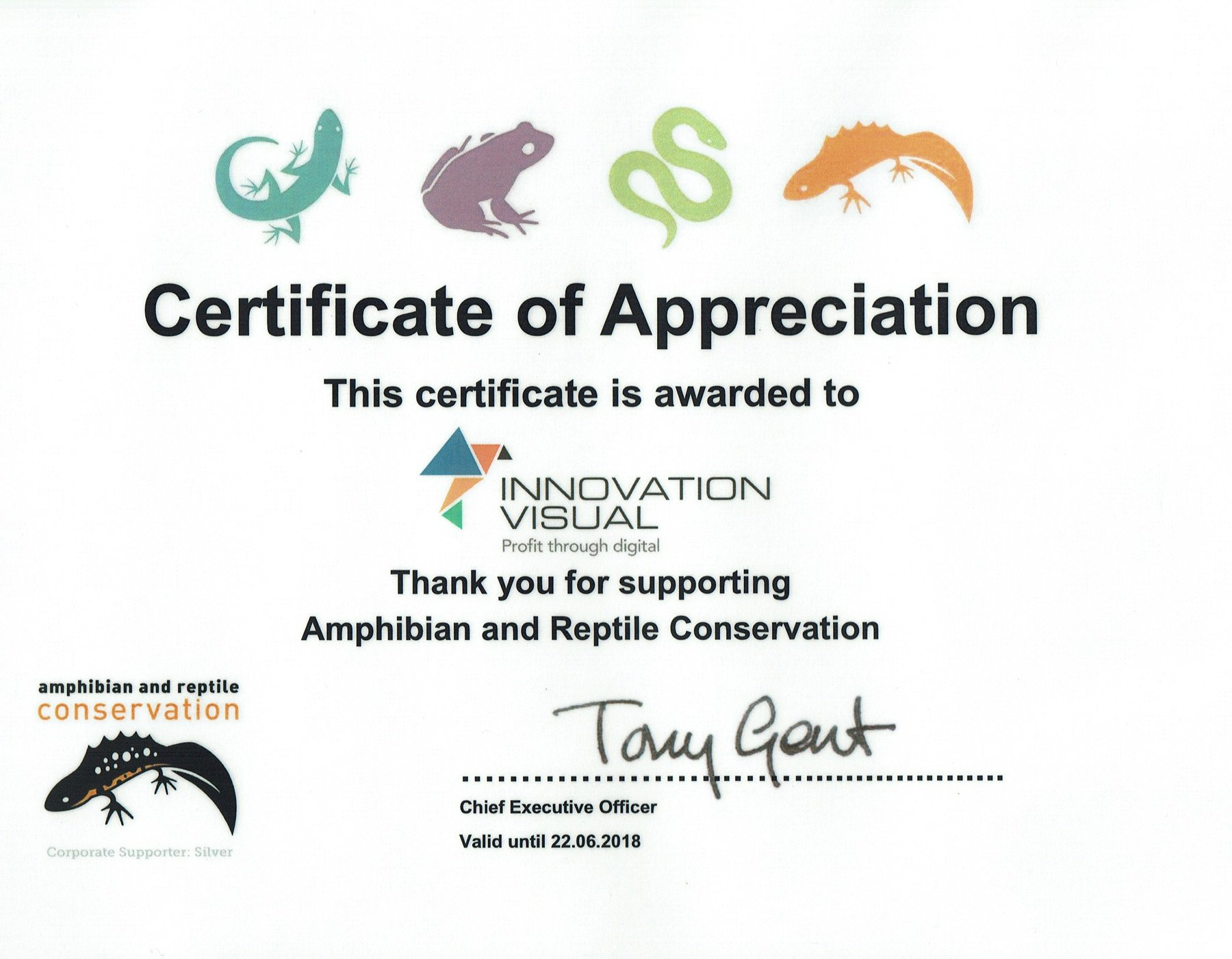 Amphibian and Reptile Conservation Trust Silver Supporters