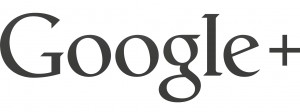 Black Logo of Google+