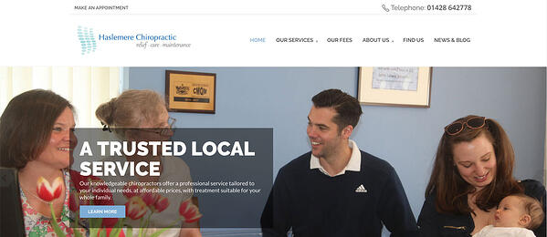 Haslemere Chiropractic Clinic New Website