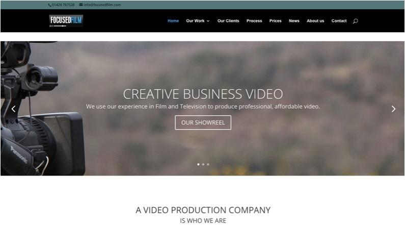 Focused FIlm Homepage Screenshot