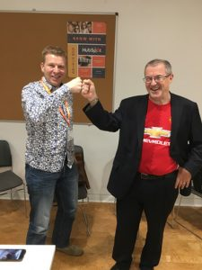 Dan Tyre and Tim Butler at Hubspot Sales LION course in Dublin October 2017