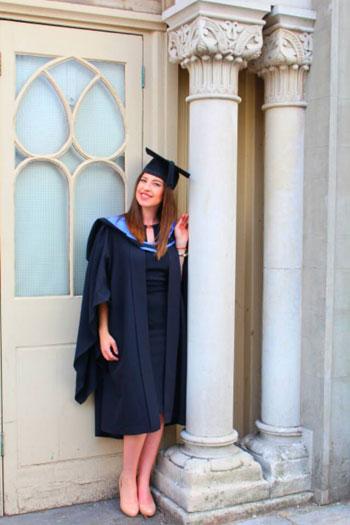 Brighton University Student Lizzie Durley Graduation Photo