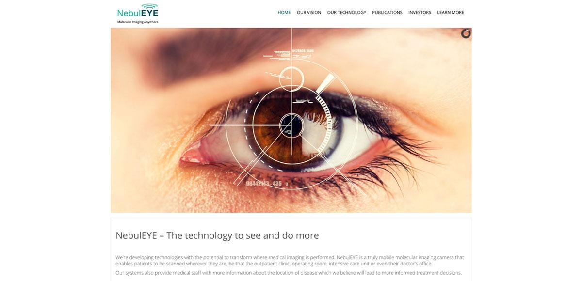 NebulEYE Website Homepage