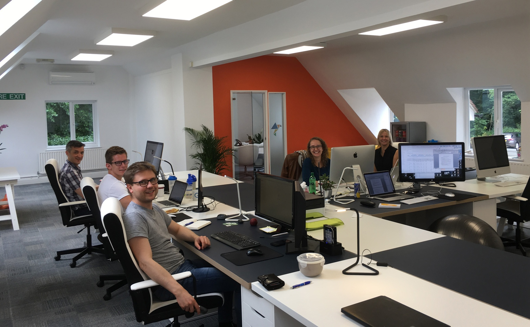 Surrey's leading digital marketing team, Innovation Visual, in their new offices in Surrey