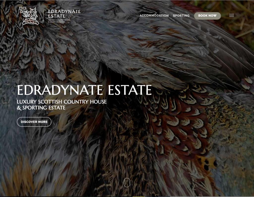 edradynate estate website screenshot