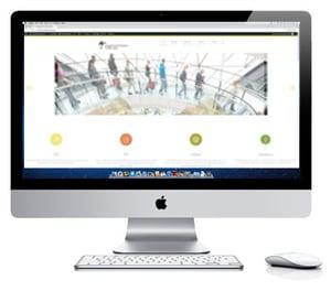 Innovation Visual Website On iMac Display