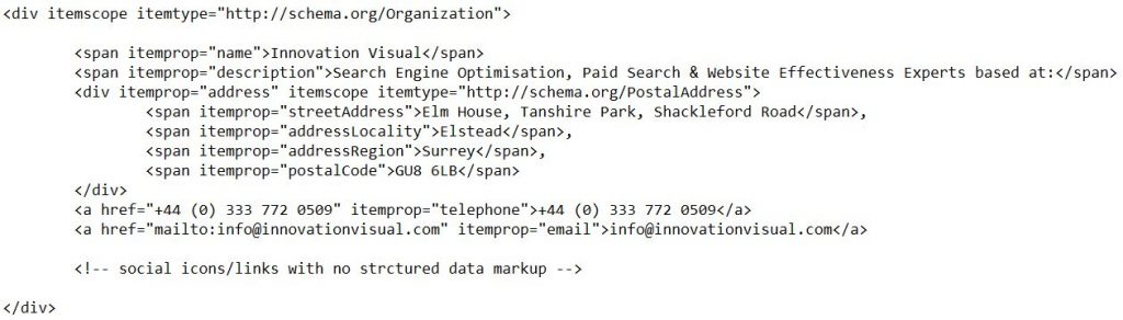 local structure data markup example - innovation visual address