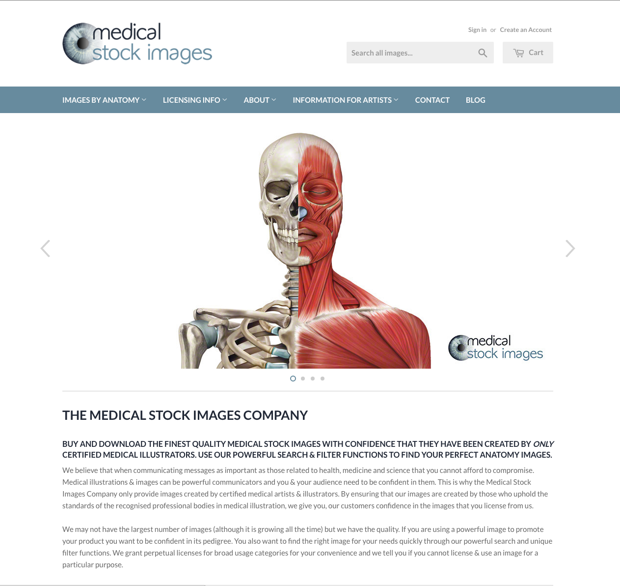 Medical Stock Images Company Website