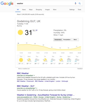 semantic search weather