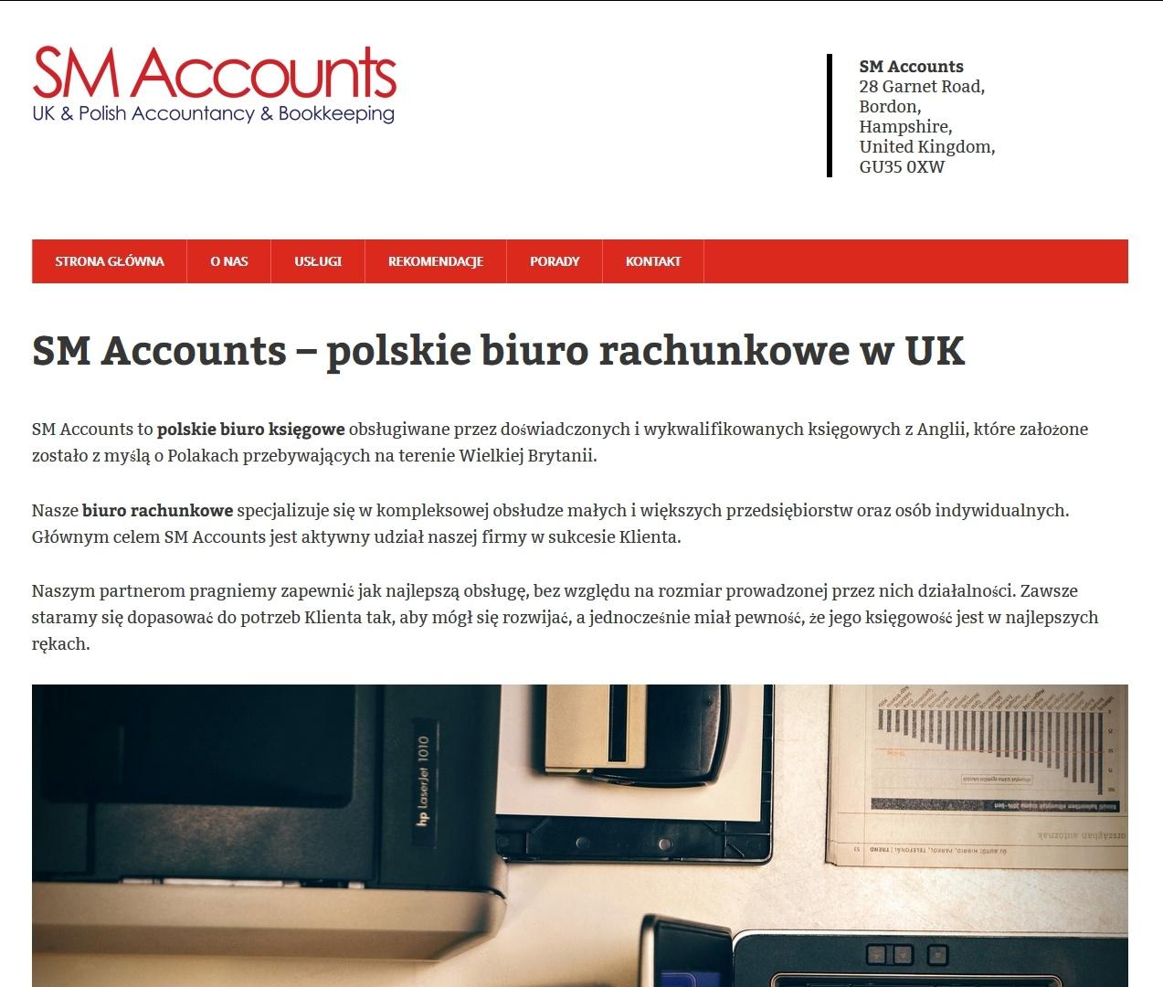 ksiegowauk.com - SM accounts homepage design