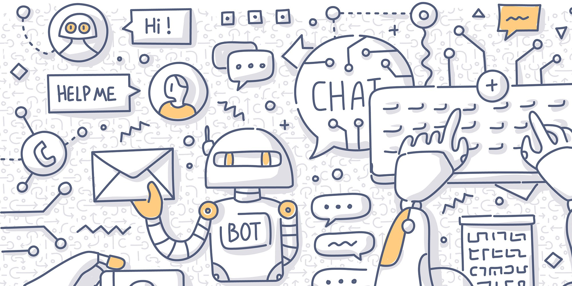 Illustration of Online Conversations and Chatbots