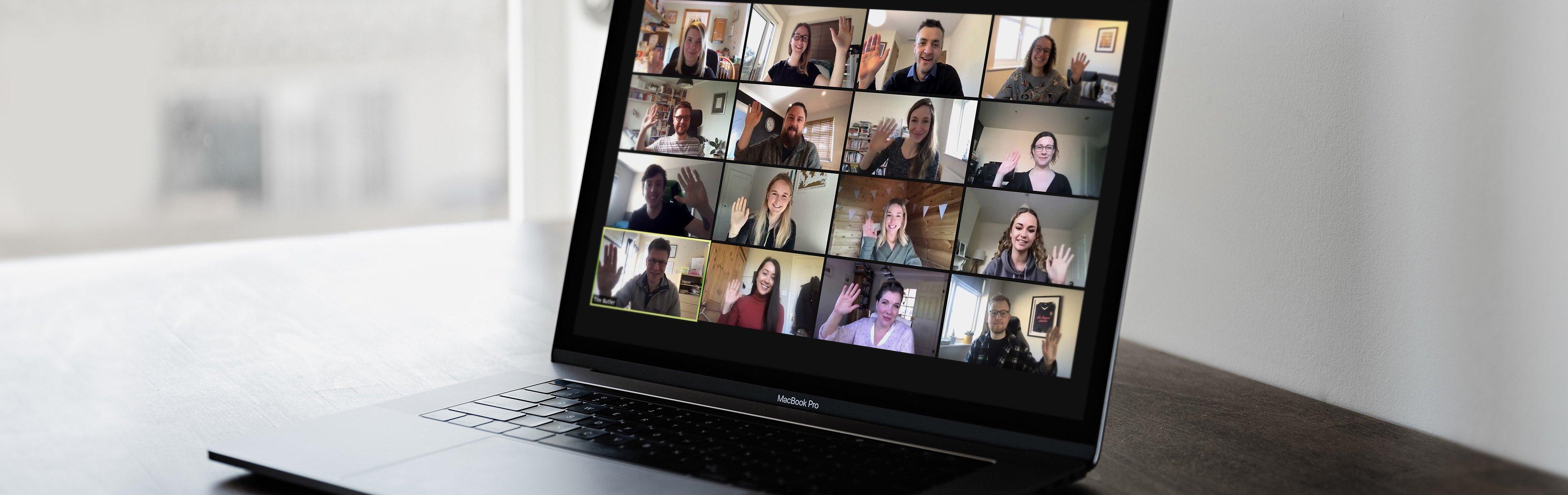 Innovation Visual Digital Marketing Team Zoom on screen