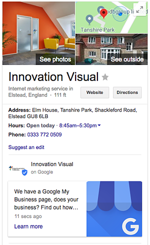 Innovation-Visual-GMB-Page
