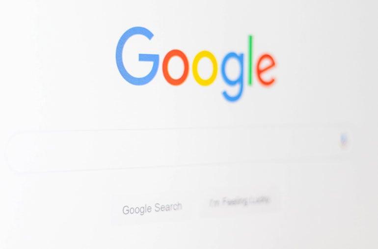 Google search bar on a computer screen