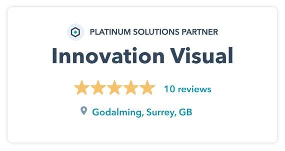 Innovation Visual HubSpot Platinum Solutions Partner 5 Star Reviews