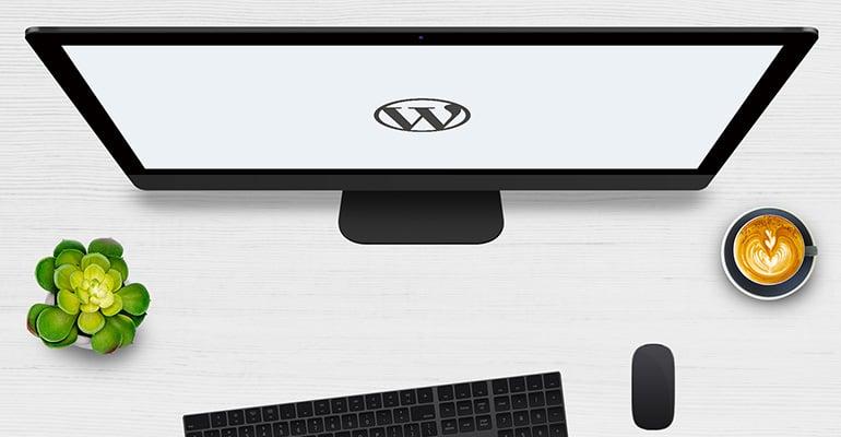 Wordpress CMS on screen