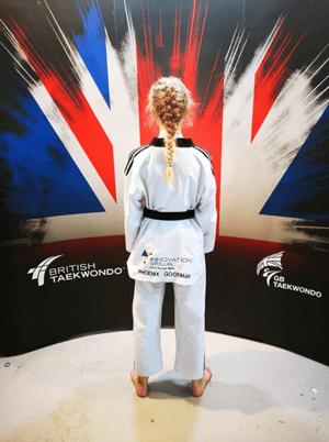 Phoenix-wearing-her-taekwondo-attire