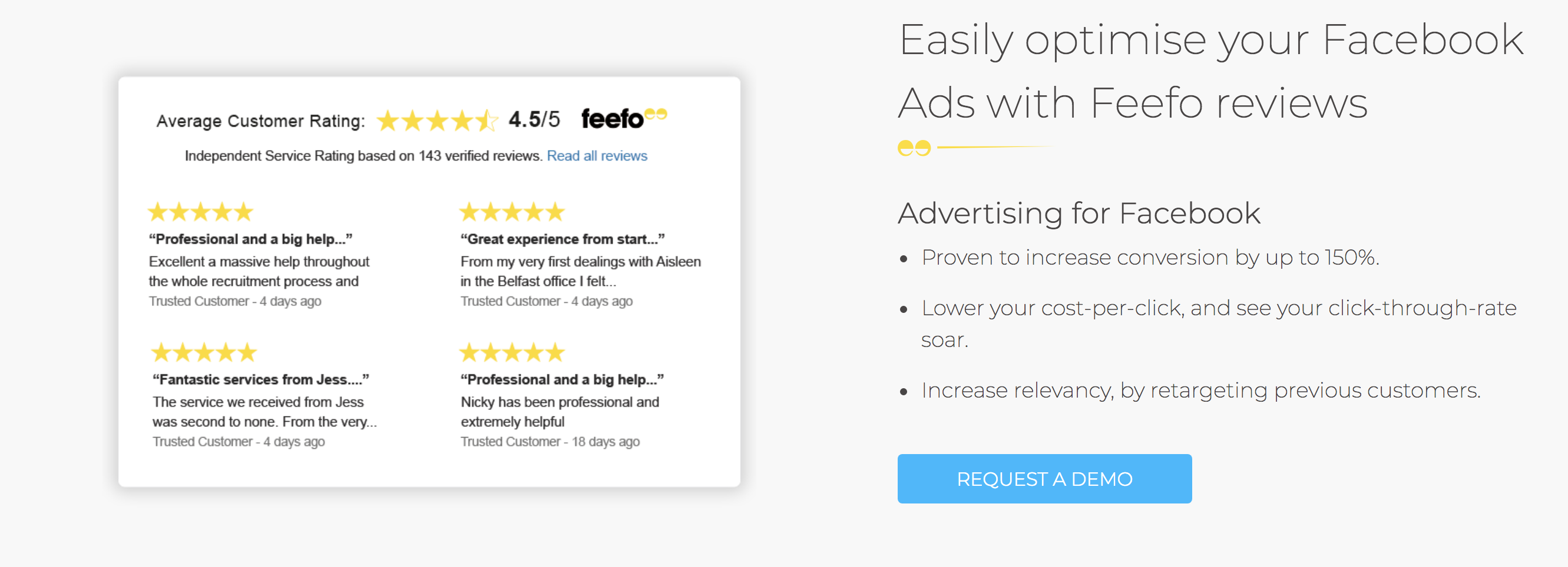 Customer reviews to ads