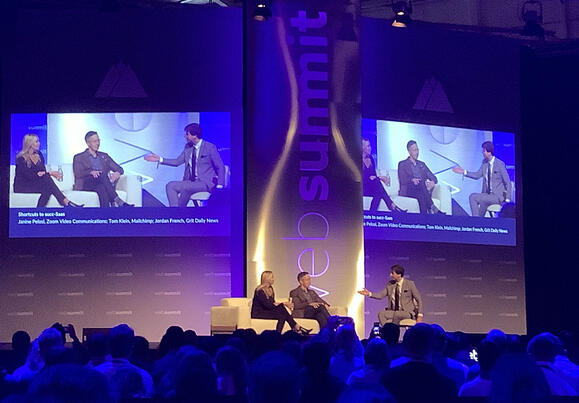 Conversation on the WebSummit19 stage