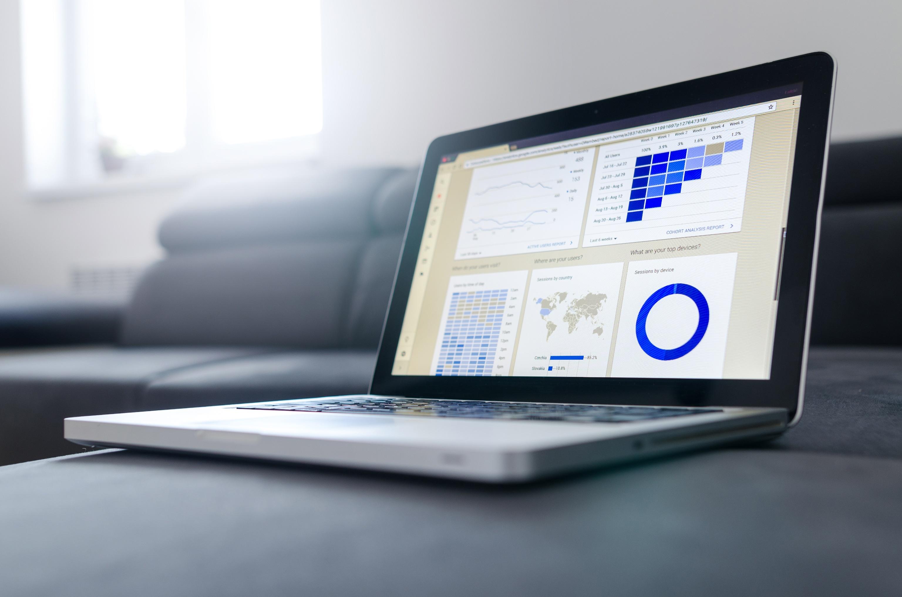 Google Analytics open on a macbook