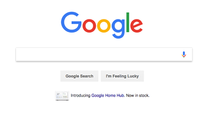 Google search home page