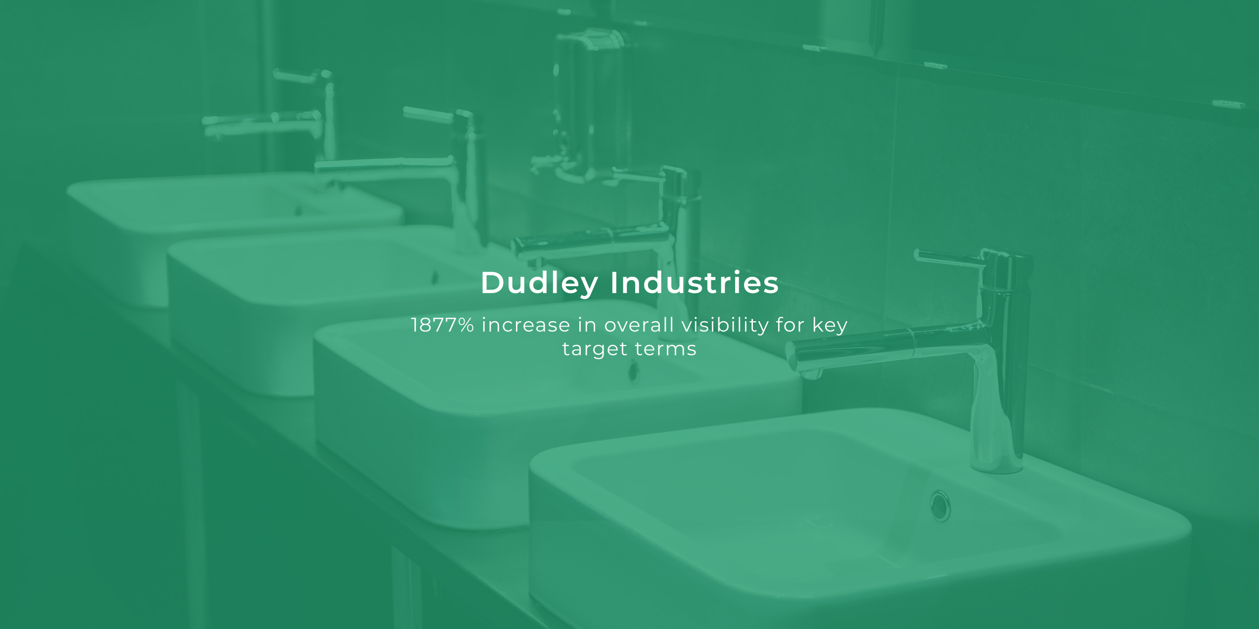 Innovation Visual Client Dudley Industries 1877% increase in visibility banner