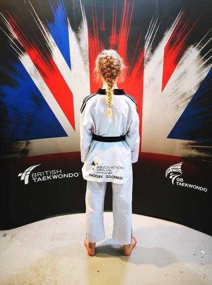 Phoenix-Goodman-wearing-her-Taekwondo-attire