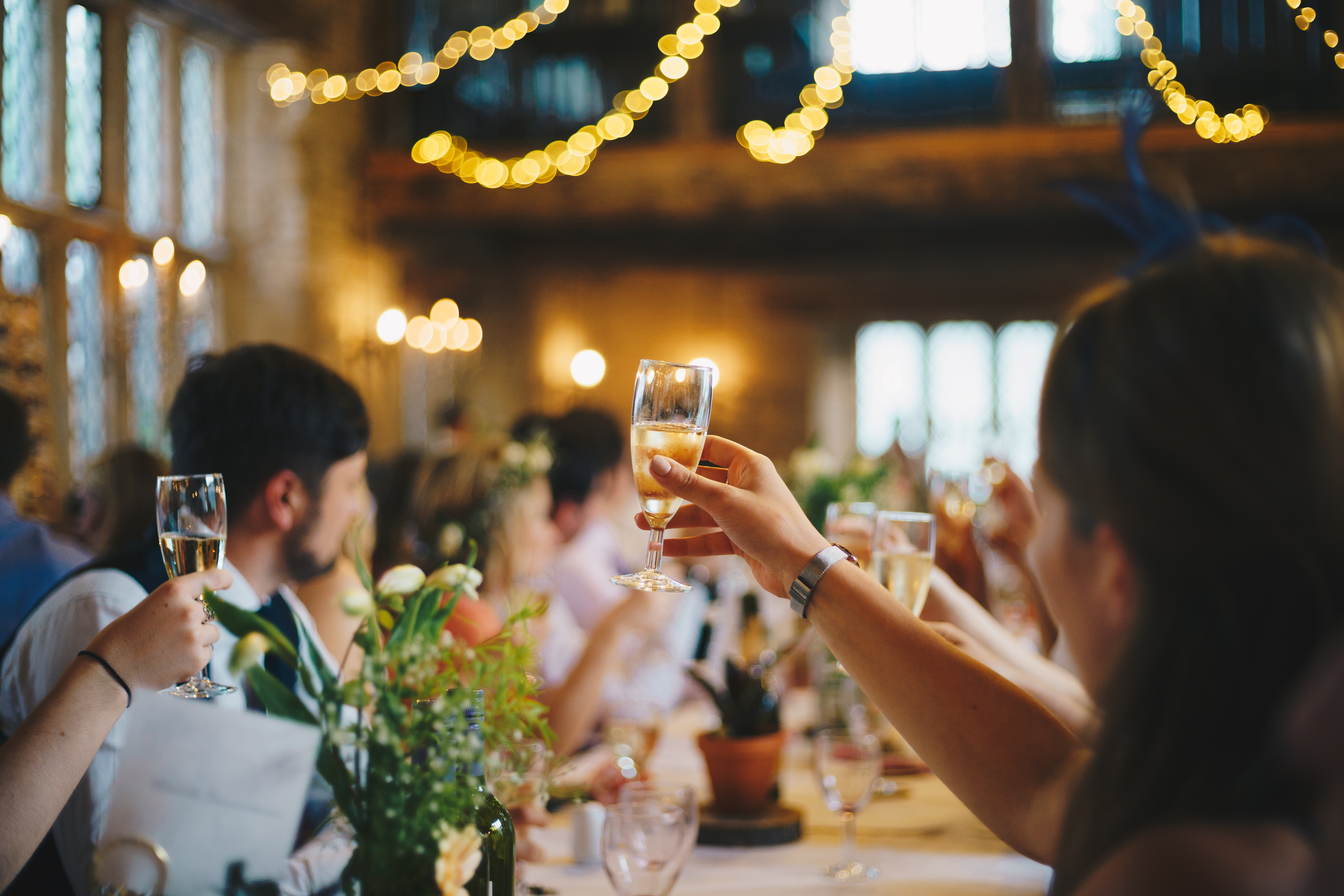 People making a toast
