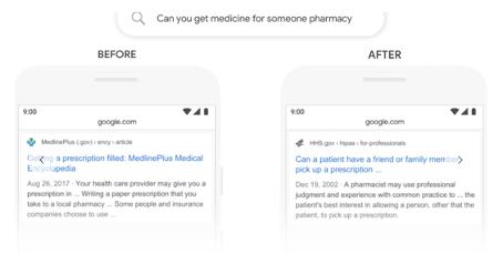 Example of Google BERT in action