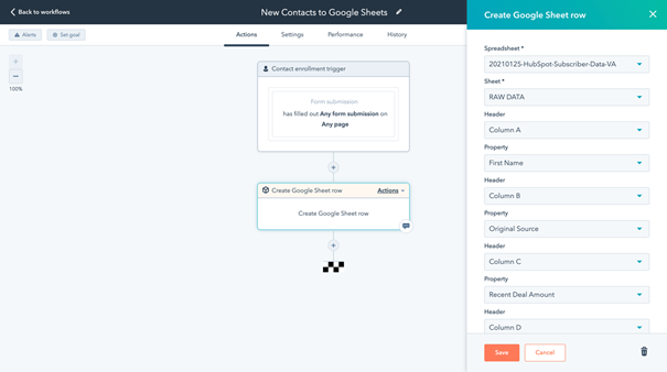 Integrating HubSpot data with Google Sheet